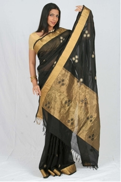 Silk Cotton Black & Gold