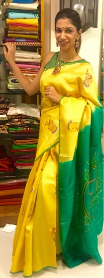 Mudra Painted Saree