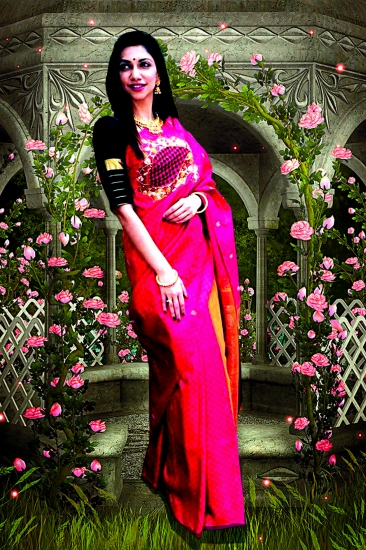 pure ahmisa silk cut work saree