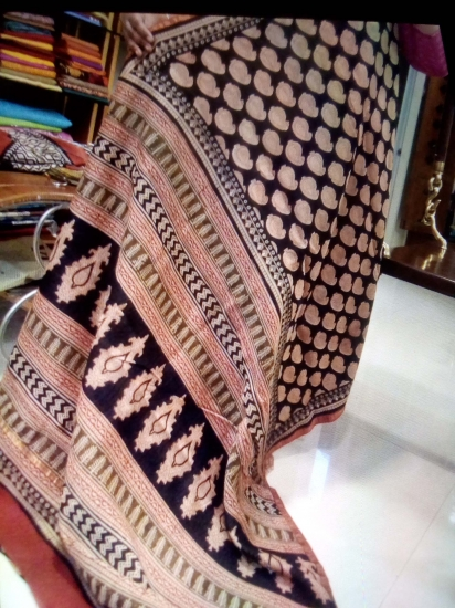 Maheshwari printed cotton saree