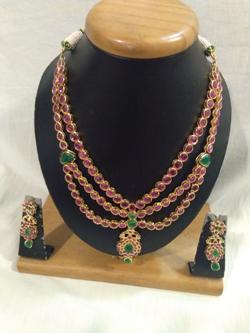 uncut stone necklace