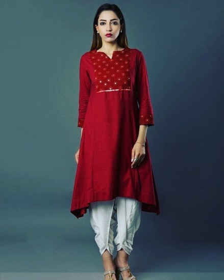 SR-RB AFSANA RED L- KURTA
