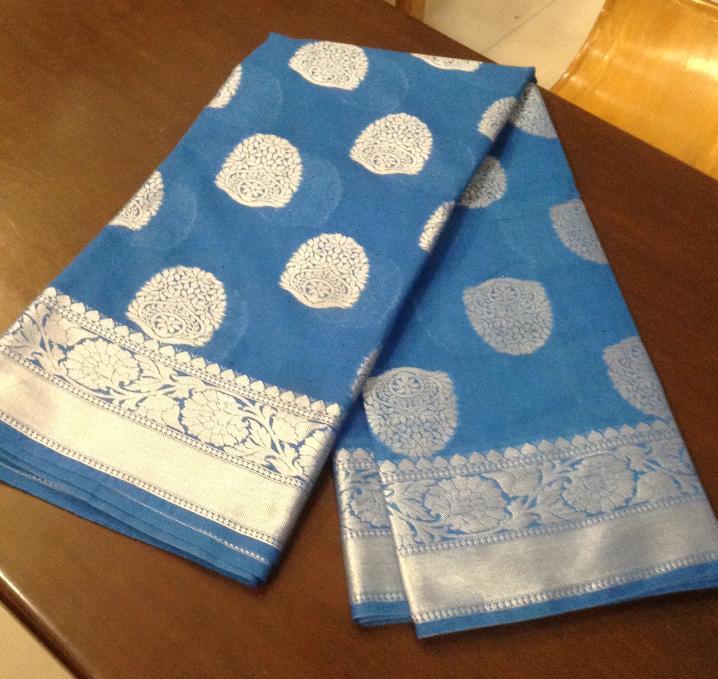 Banaras saree  Red & Blue