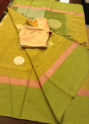 100 Counts cotton saree & blouse