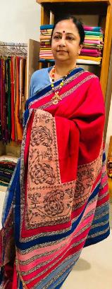 Khadi ahimsa printed silk
