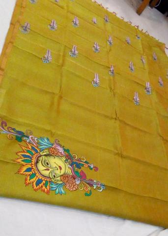 Mural painting with ahimsa silk