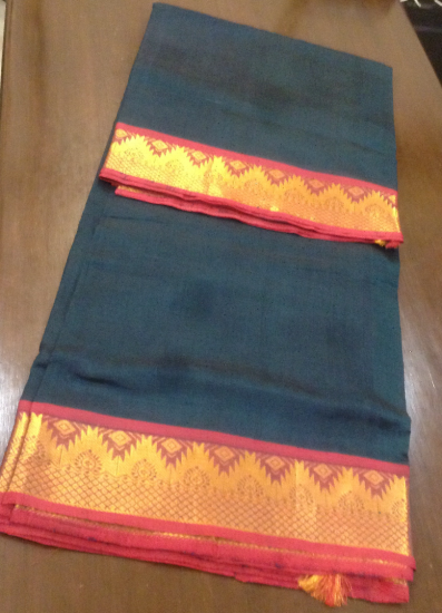 Ahimsa silk cotton 9 yards