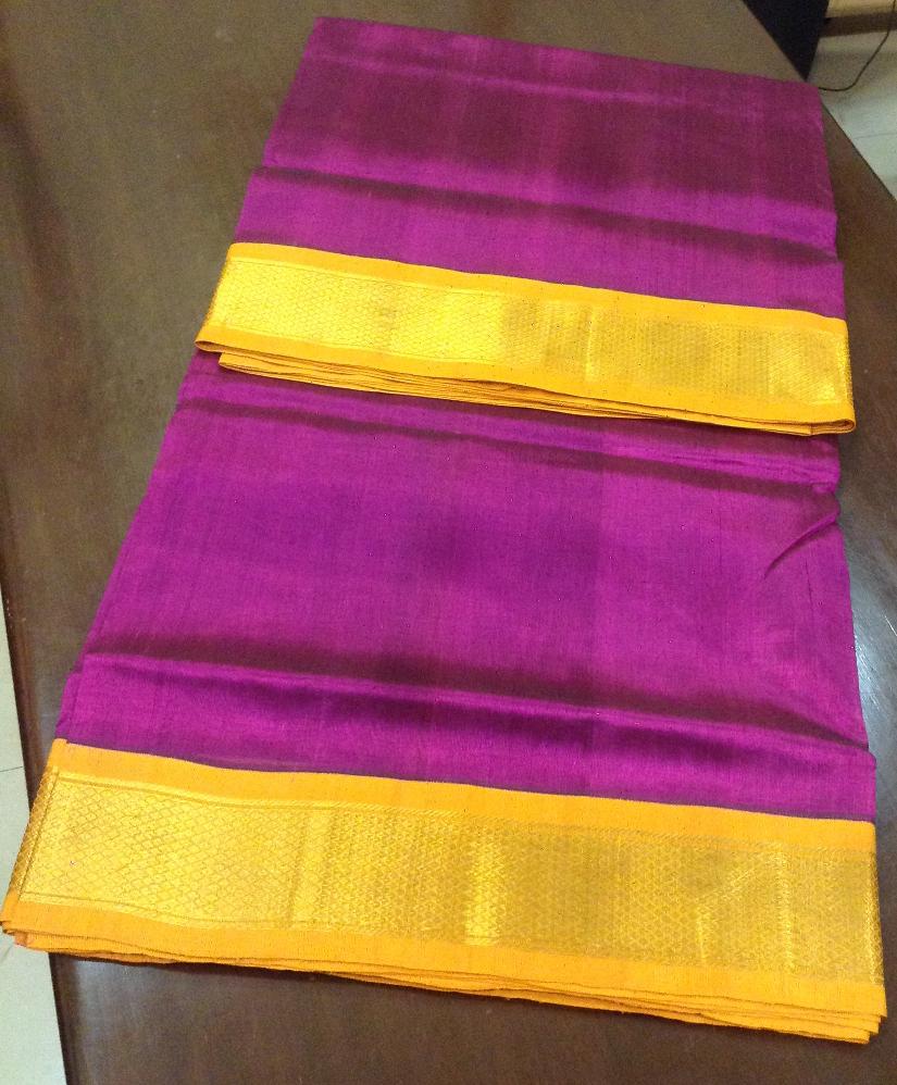 Ahimsa silk cotton 9 yards