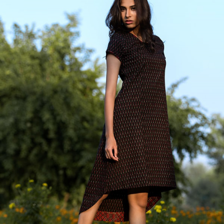 SR-long short dress black
