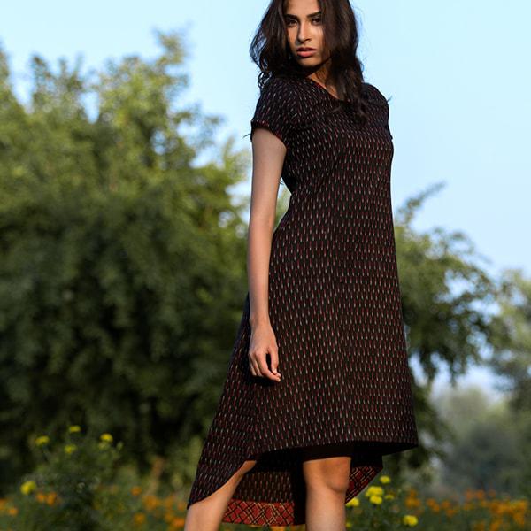 SR-long short dress black