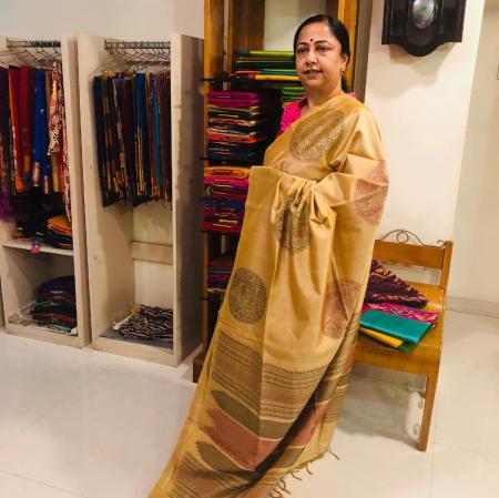 Ahimsa silk cotton 80/20 saree