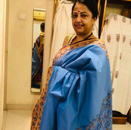 Ahimsa silk cotton printed saree