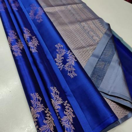 Tussar & printed saree